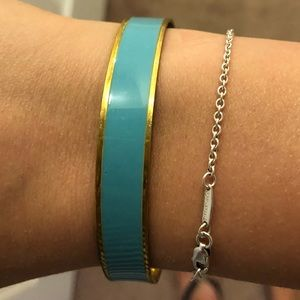Blue and Gold J. Crew Bangle